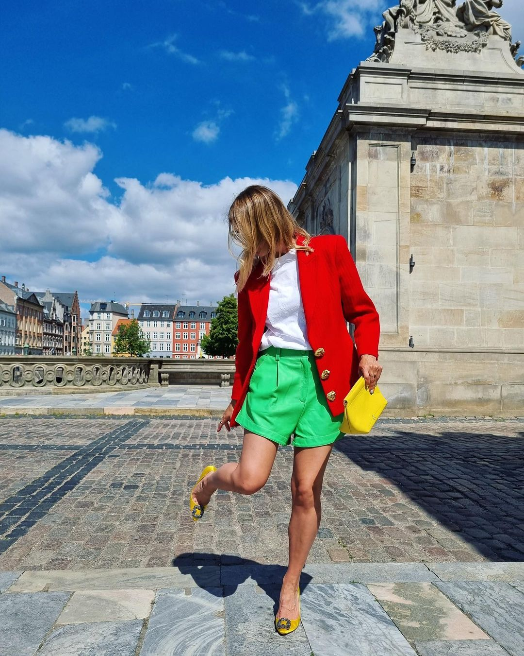karo-dall-green-shorts-outfit-instagram