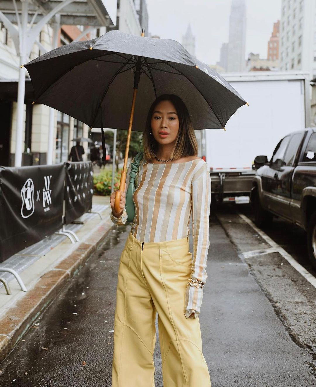 aimee-song-petar-petrov-gill-yellow-leather-wide-leg-pants-instagram