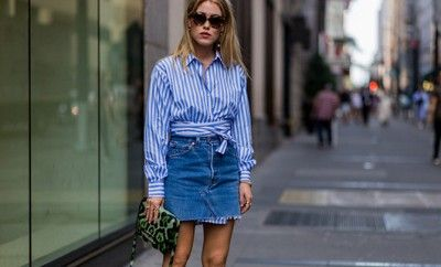 how-to-style-denim-skirt-fall-outfit-ideas