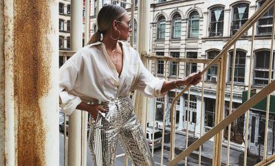 silver-coated-metallic-pants-trend-instagram-influencers